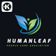 Human Leaf Logo - GraphicRiver Item for Sale