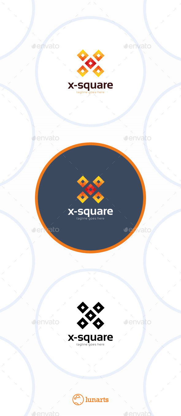 GraphicRiver X-Square Logo Letter X 11506755