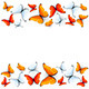 Red and White Butterflies on White Background - GraphicRiver Item for Sale