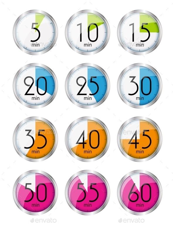 GraphicRiver Silver Watch Designation Minutes 11506988