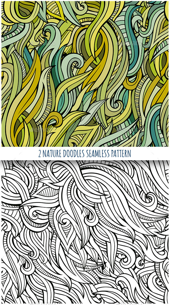 GraphicRiver 2 Nature Seamless Patterns 11507365
