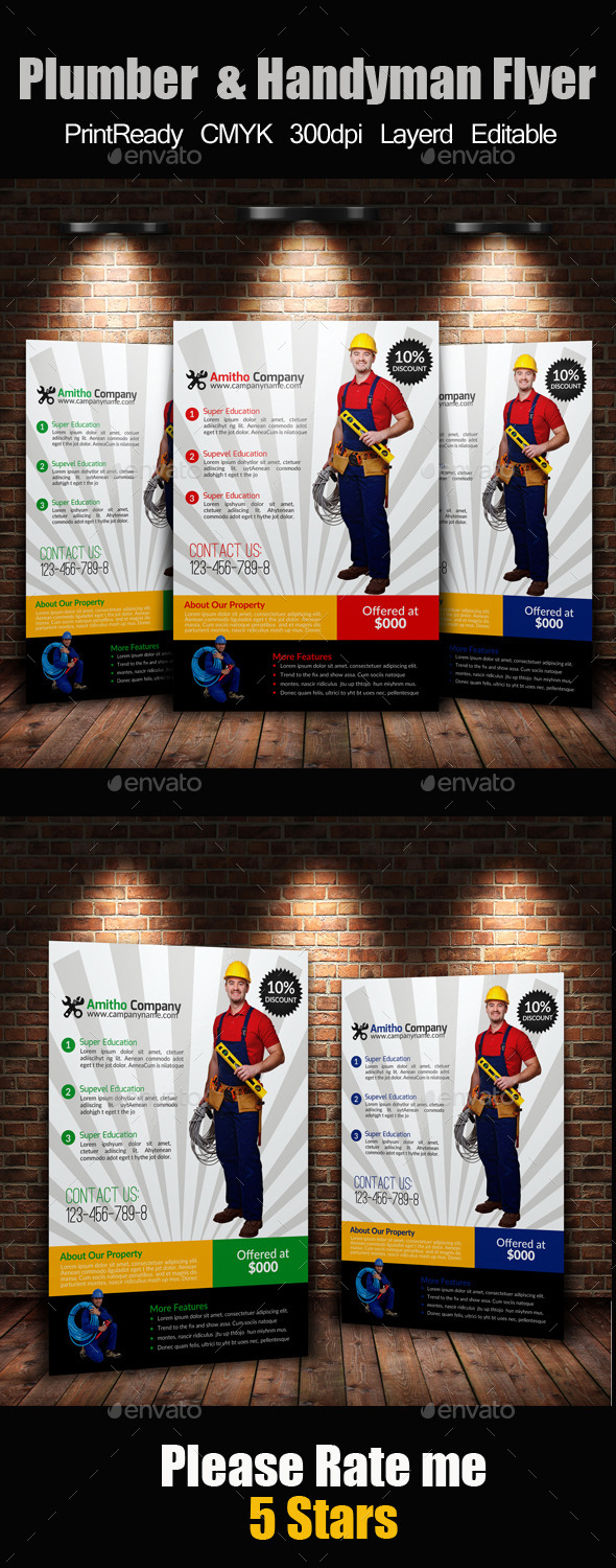 GraphicRiver Handyman & Plumber Services Flyer 11507422