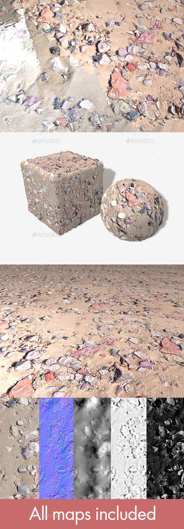 3DOcean Beach Rubble 1 Seamless Texture 11507645