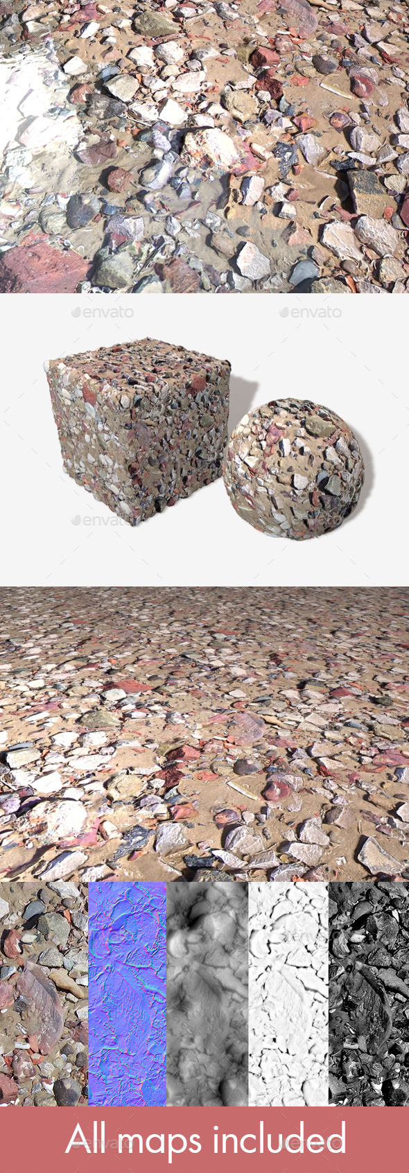 3DOcean Beach Rubble 2 Seamless Texture 11507662