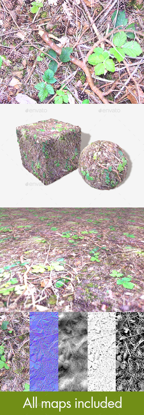 3DOcean Forest Ground Seamless Texture 11507675