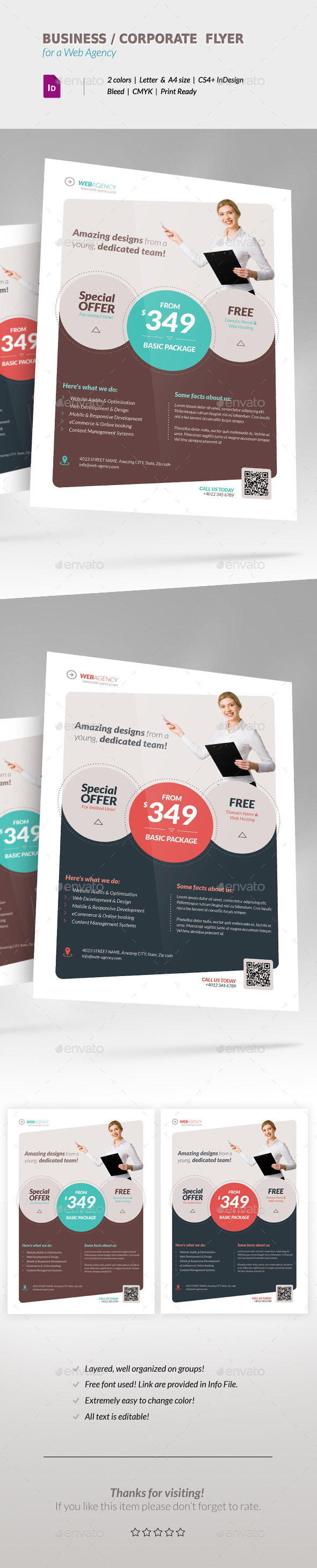 GraphicRiver Business Corporate Flyer for Web Agency 11507690