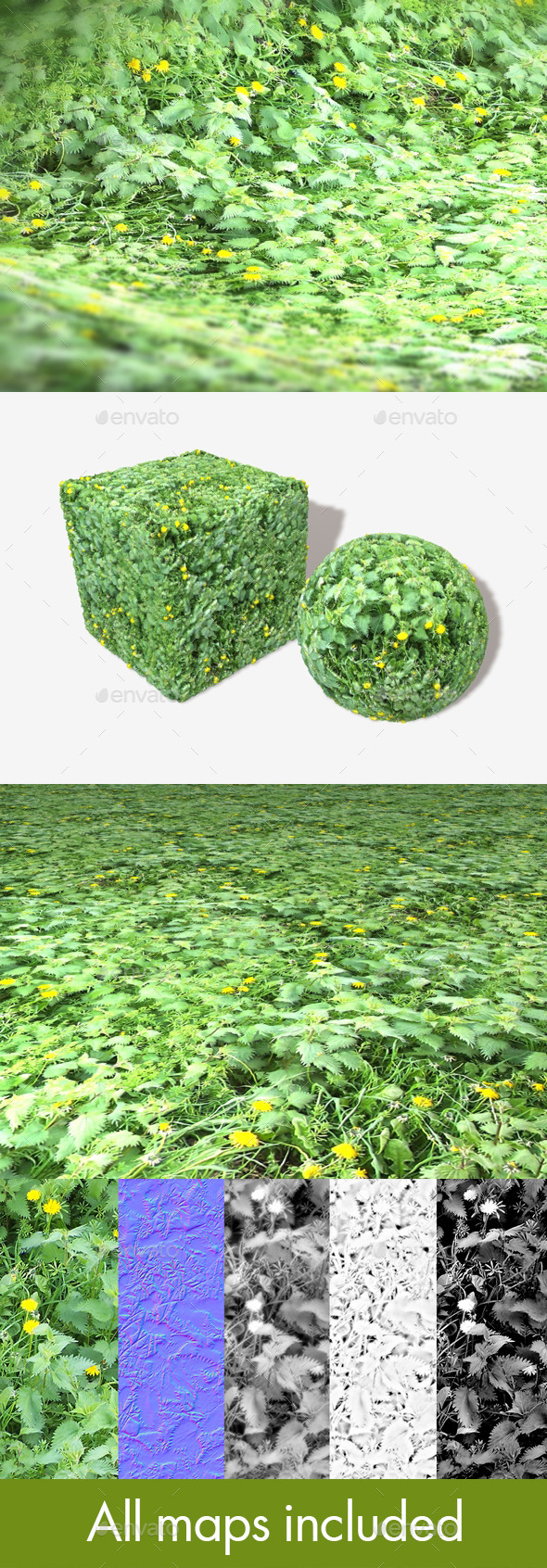 Weeds 2 Seamless Texture - 3DOcean Item for Sale