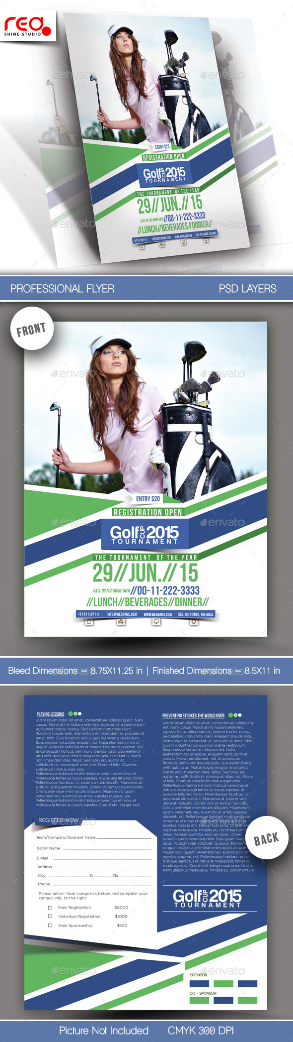 GraphicRiver Golf Cup Tournament Flyer Template 1 11507720