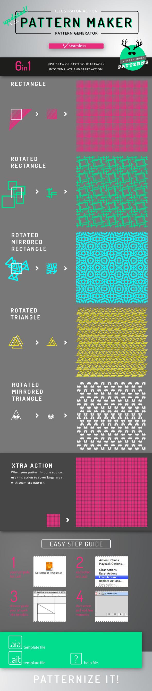 Pattern Maker - Illustrator Action - Actions Illustrator