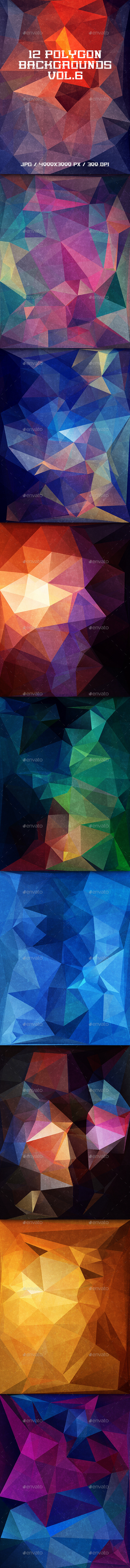 GraphicRiver Polygon Backgrounds Vol.6 11507788