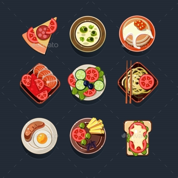 GraphicRiver Set Of Traditional Food Icons 11508514