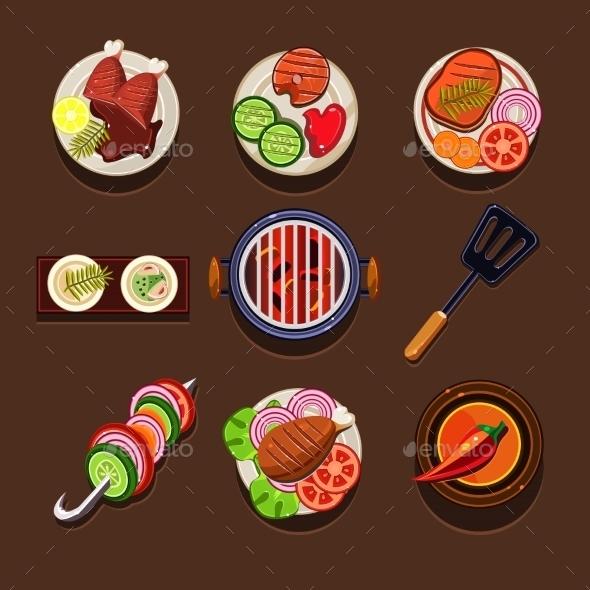 GraphicRiver BBQ Grill Icon 11508535