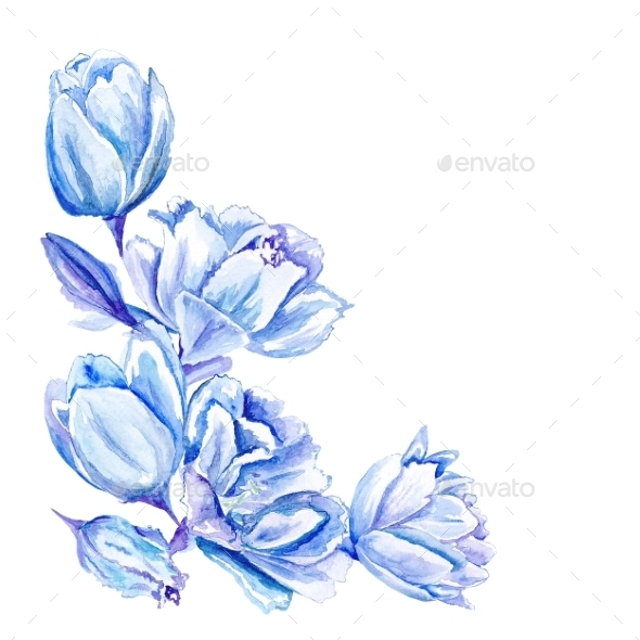 GraphicRiver Watercolor Floral Corner 11508536