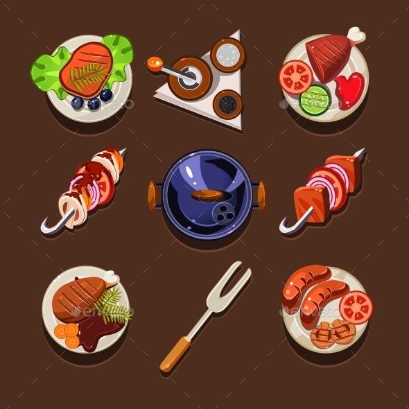 GraphicRiver BBQ Grill Icon 11508538