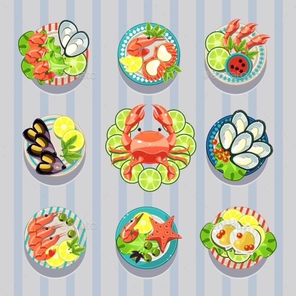 GraphicRiver Infographic Elements Food Business Seafood 11508617