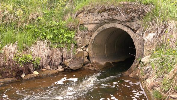 Culvert- Water Pipes Under Road