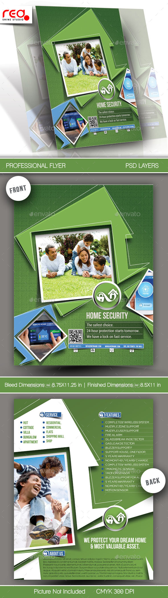 GraphicRiver Home Security Flyer & Poster Template 11508674