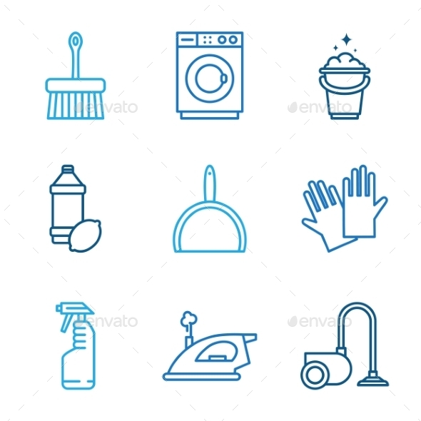 GraphicRiver Cleaning Tools Icons 11508689