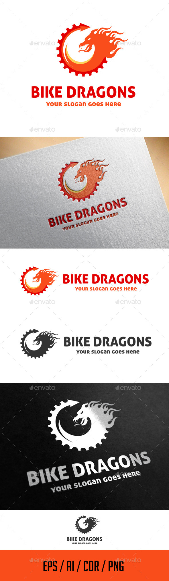 GraphicRiver Bike Dragons Logo Template 11508719
