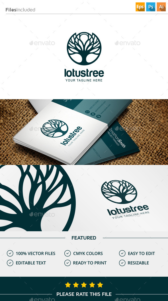 GraphicRiver Tree Logo 11508763