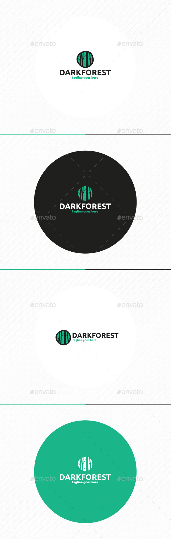 GraphicRiver Dark Forest Logo 11508796