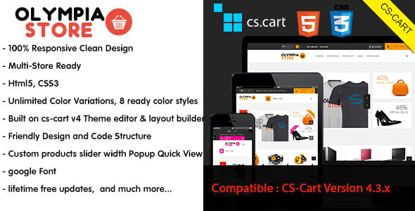 Olympia - Responsive CS-Cart Theme - CS-Cart eCommerce