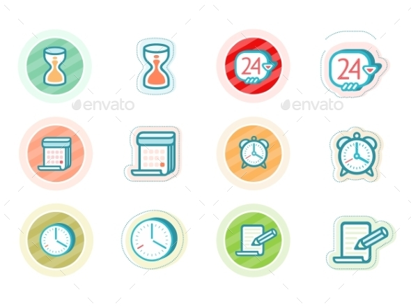 GraphicRiver Time and Date Icons 11508874
