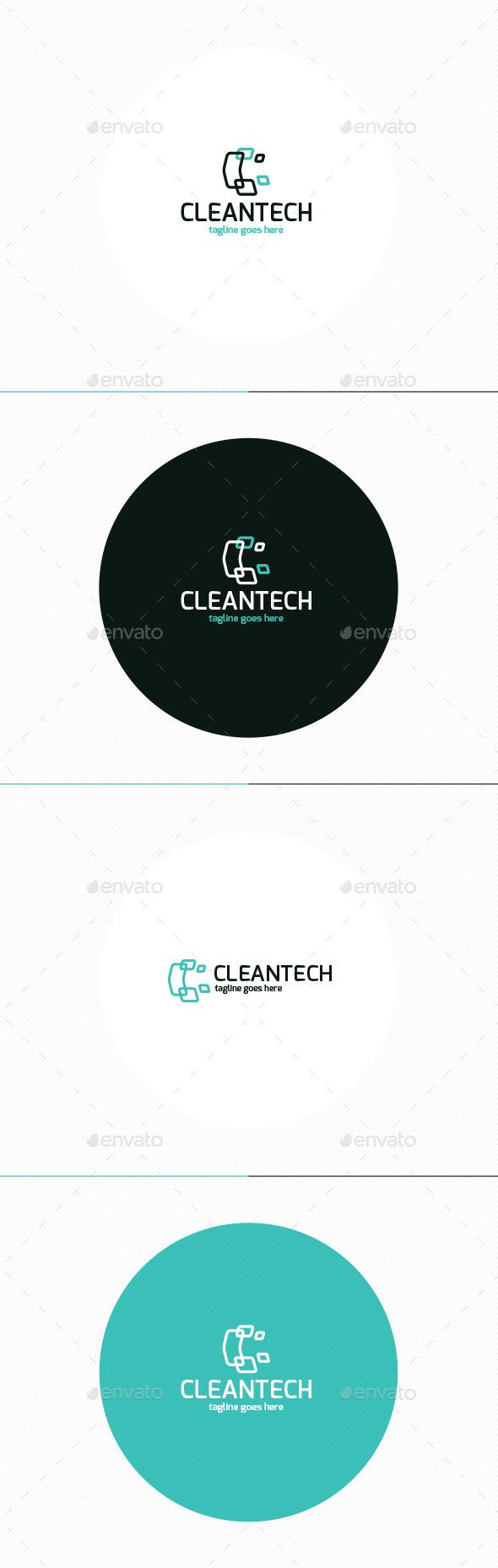 GraphicRiver Clean Tech Logo Letter C 11508878