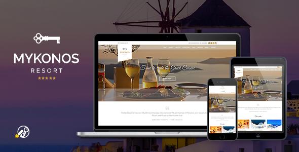 Mykonos Resort – Hotel Theme For WordPress Download