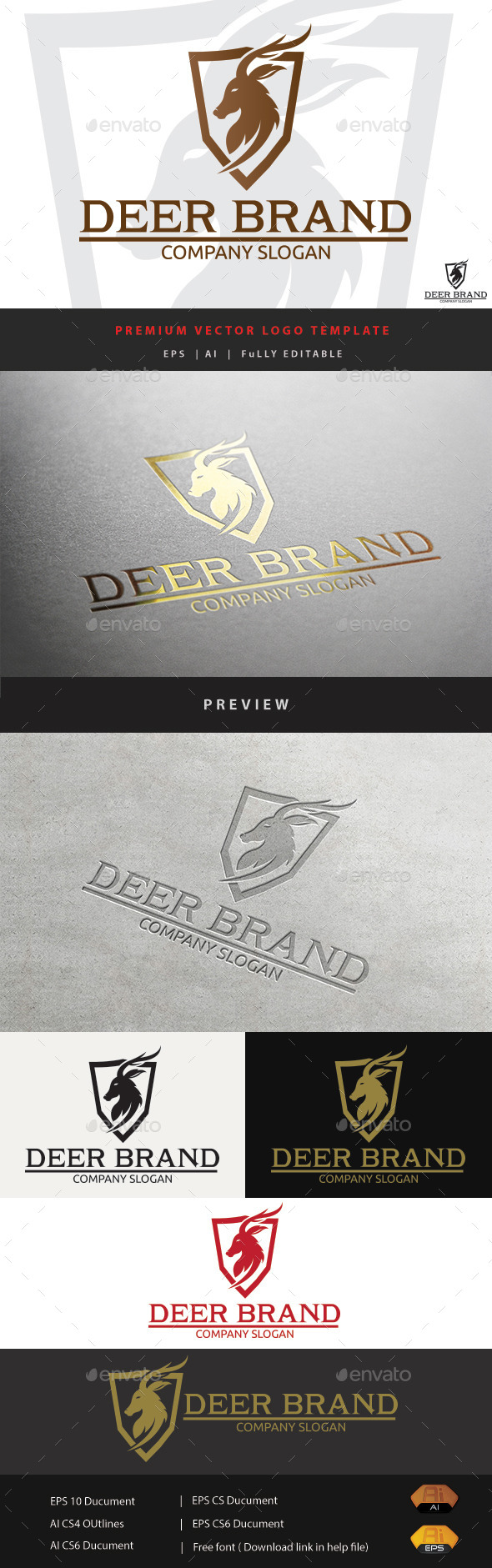 GraphicRiver Deer Brand 11509067