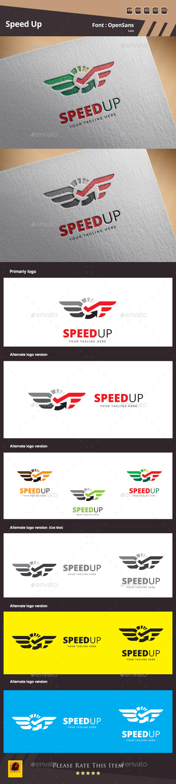 GraphicRiver Speed Up Logo Template 11509108