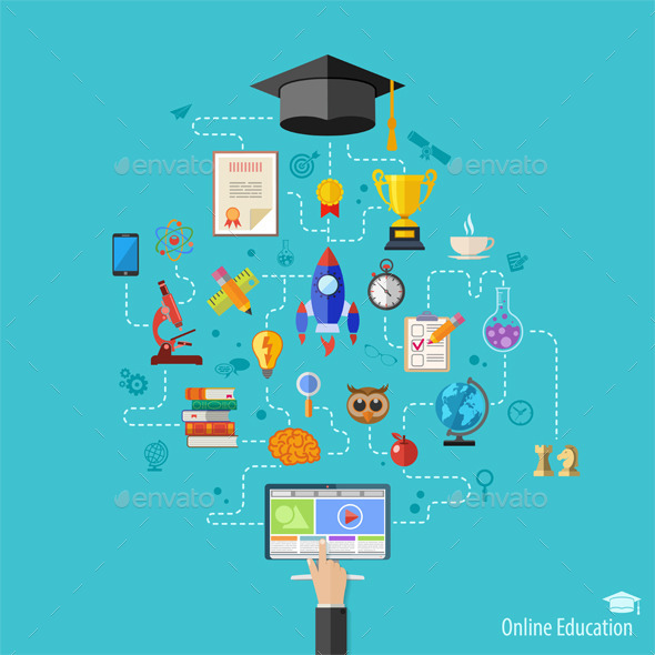 GraphicRiver Online Education Concept 11509250
