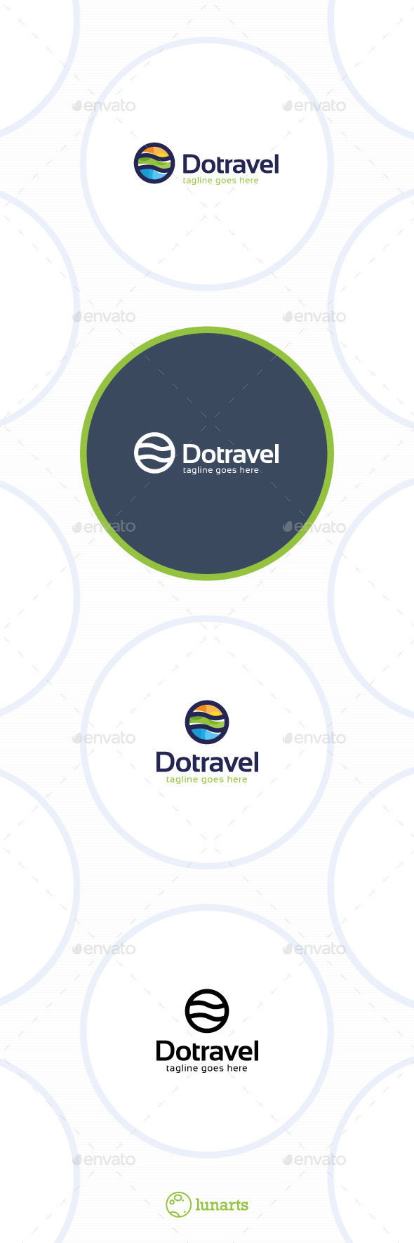GraphicRiver Dot Travel Logo 11509300