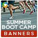 Summer Boot Camp Banners - 2 Sets - GraphicRiver Item for Sale