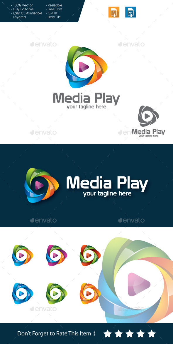GraphicRiver Media Play Logo 11509459