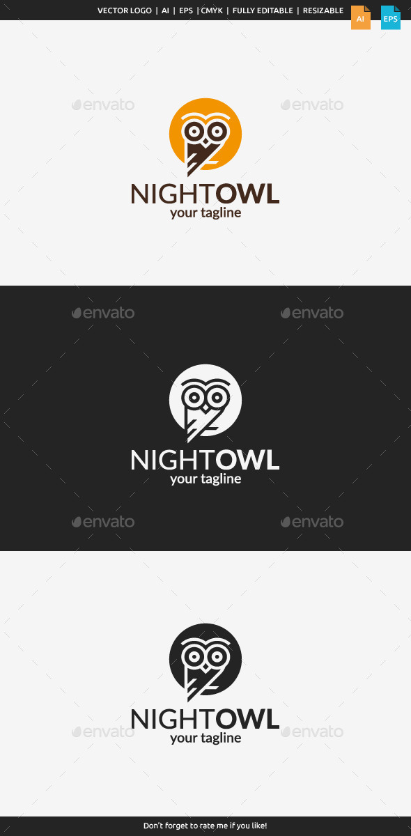 GraphicRiver Night Owl Logo Template 11509463
