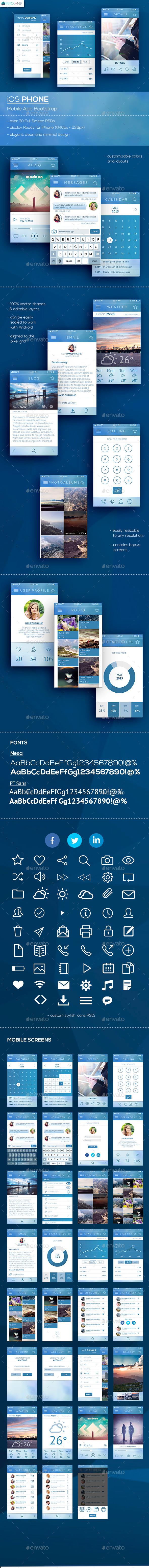 GraphicRiver Zeus iOS Phone Mobile App Bootstrap 11493680