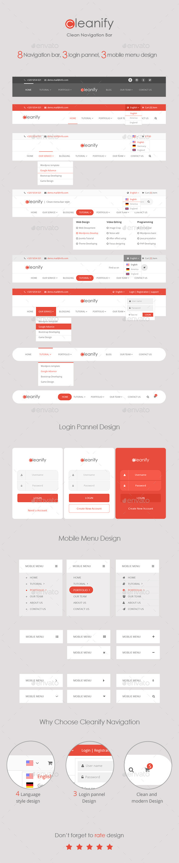 GraphicRiver Cleanify Navigation Bar 11509588