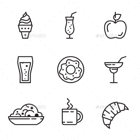 GraphicRiver Vector Food Icons Set 11509699