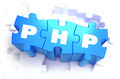 PHP - Text on Blue Puzzles.