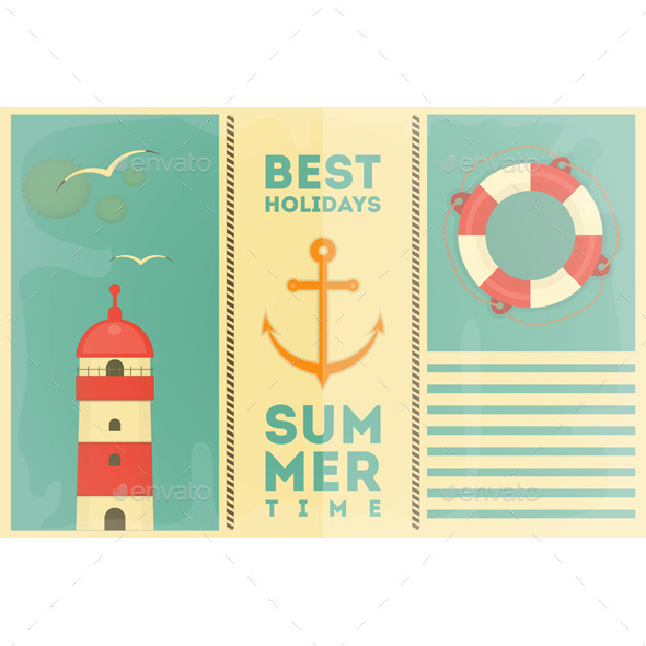 GraphicRiver Summer Holidays Card 11510085