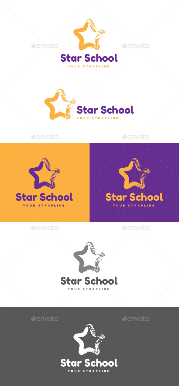 GraphicRiver Star School Logo 11510137