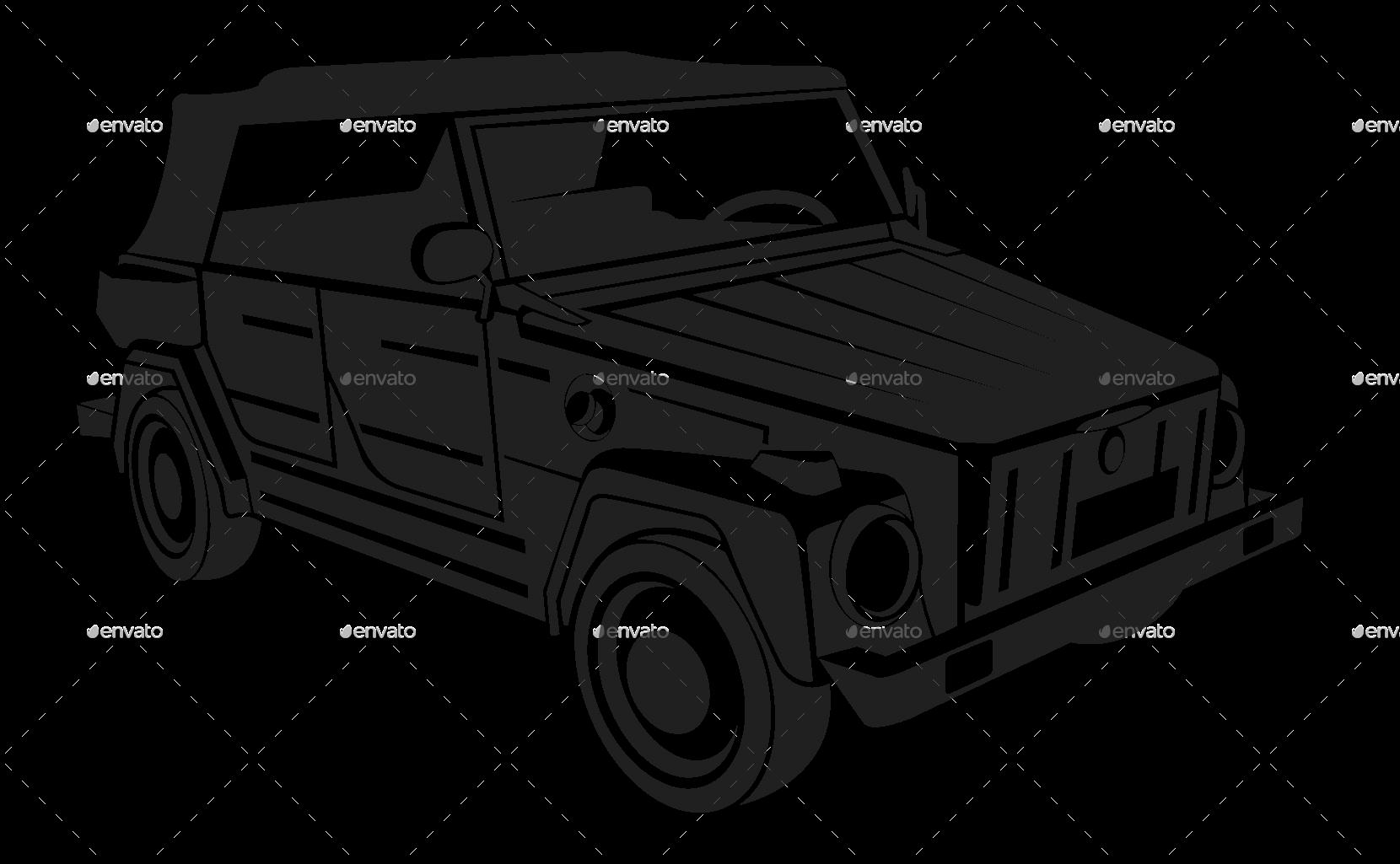 Vw Silhouette Car Set By Vectorio Graphicriver