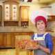 happy boy chef with pizza in kitchen - PhotoDune Item for Sale