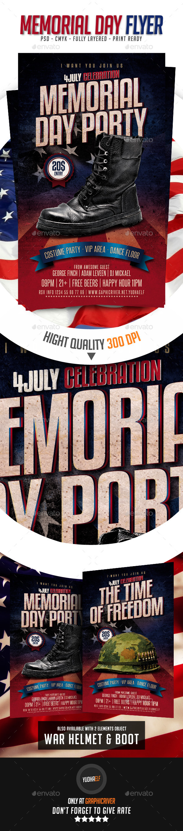 GraphicRiver Memorial Day Flyer 11510367