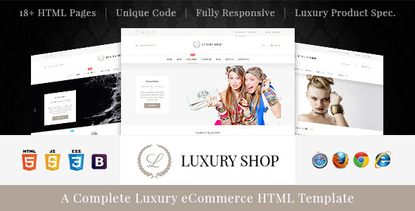 ThemeForest Luxury Shop eCommerce HTML Template 11443928