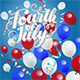 Fourth of July Balloons Background - GraphicRiver Item for Sale
