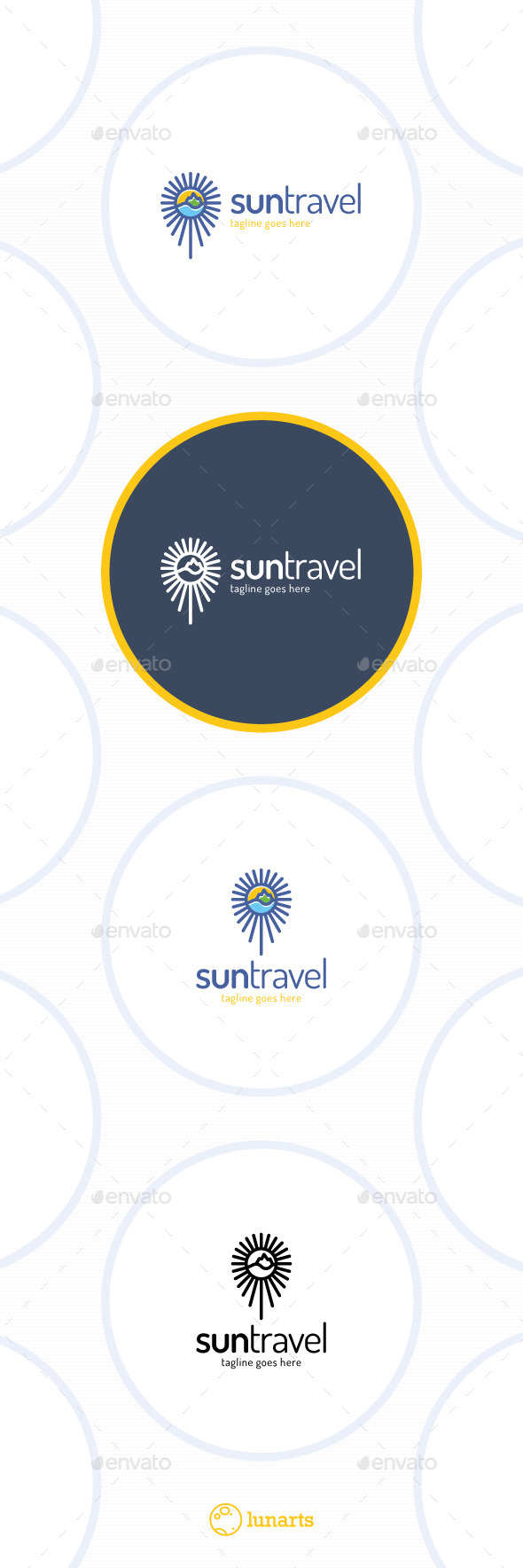 GraphicRiver Sun Travel Logo 11510484
