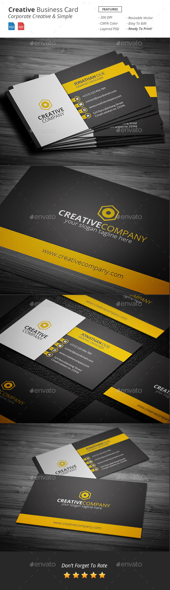 GraphicRiver Creative Business Card Template 11510605