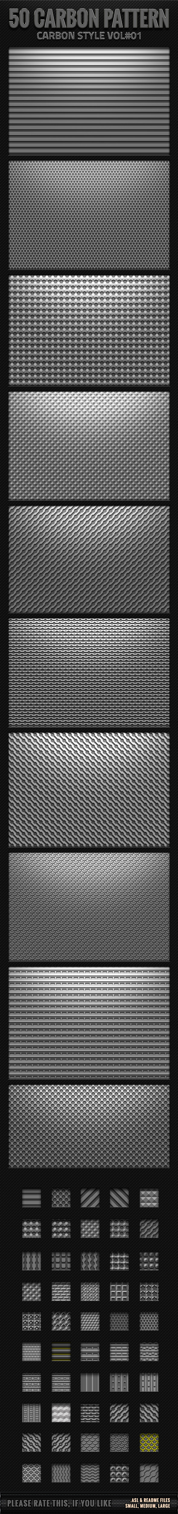 GraphicRiver 50 Carbon Pattern 11510729